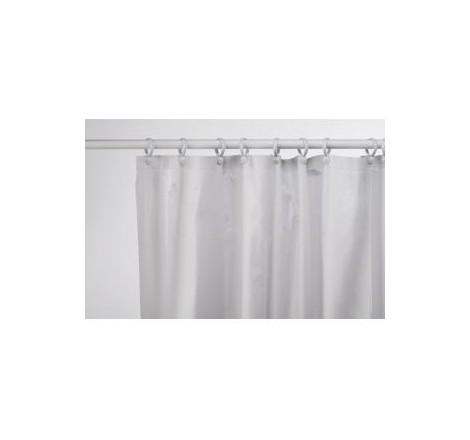 WHITE PLAIN PVC SHOWER CURTAIN