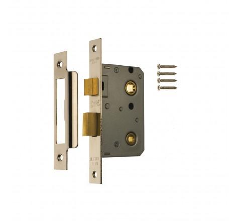 Bathroom Door Lock 76mm Chrome