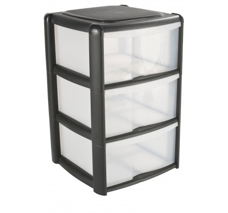 3 DRAWER PLASTIC TOWER