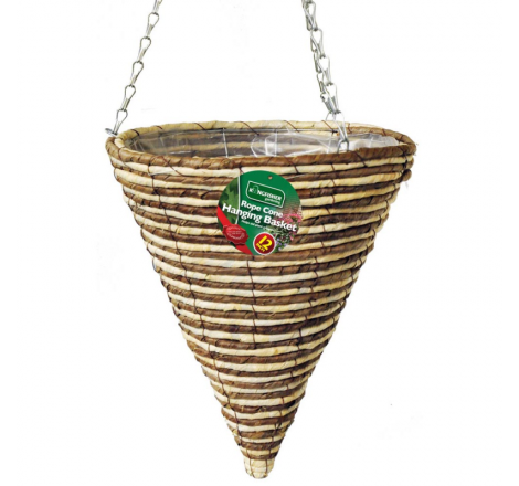 12 INCH ROPE CONE HANGING...