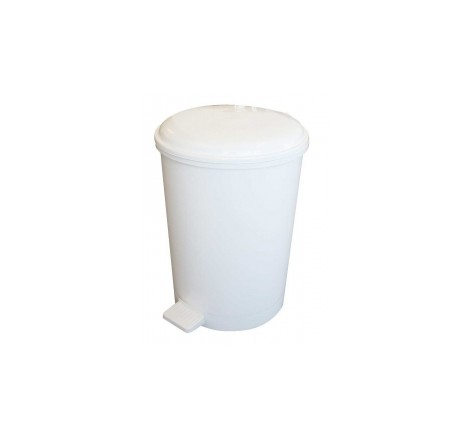20L Plastic Pedal Bin White