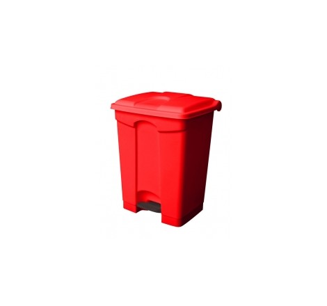 45L All Red Step On Container