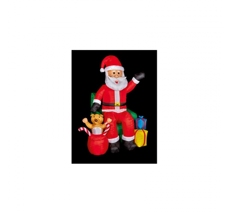 2.4M INFLATABLE SANTA IN CHAIR