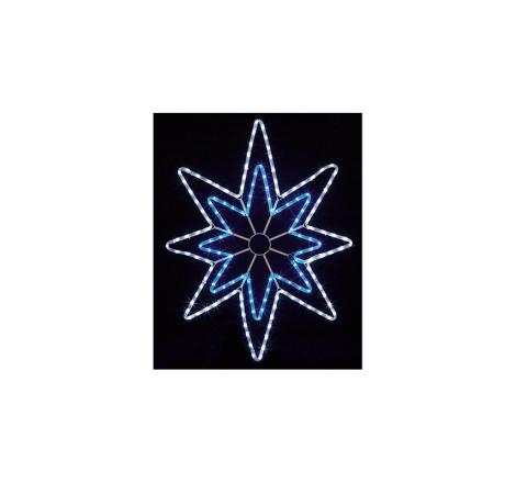 90CM BLUE AND WHITE LED STAR