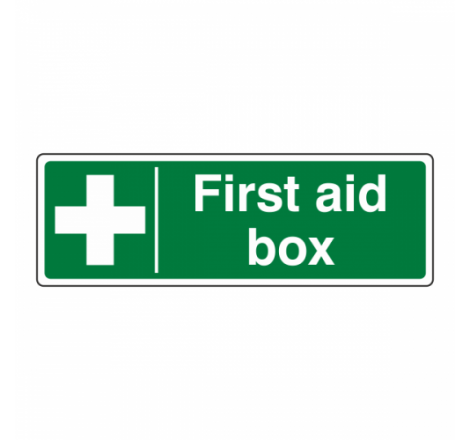 First Aid Box Sign (Landscape)