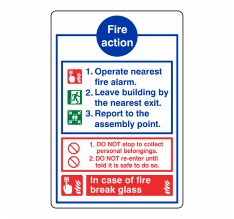 Fire Action Sign - In Case...