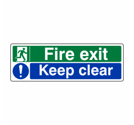 Fire Exit / Keep Clear Sign