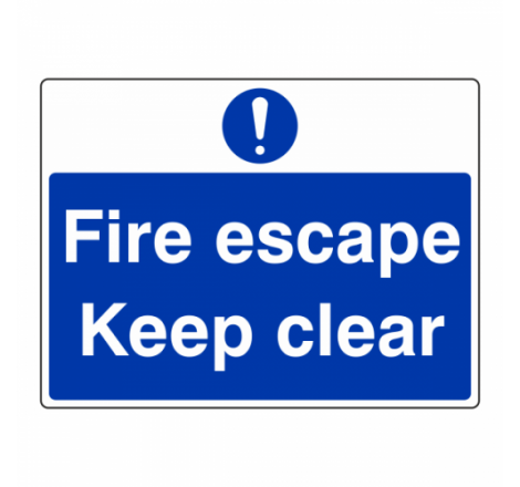 Fire Escape Keep Clear Sign...