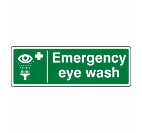 Emergency Eye Wash Sign...