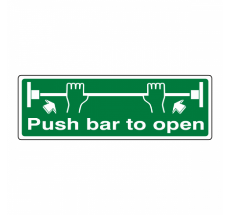 Push Bar To Open Sign...