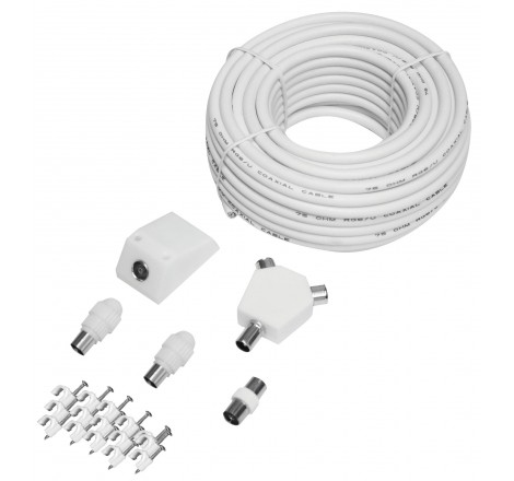 TV/FM Aerial Cable Kit, 15m...