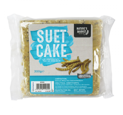 SUET CAKE WITH MEALWORMS