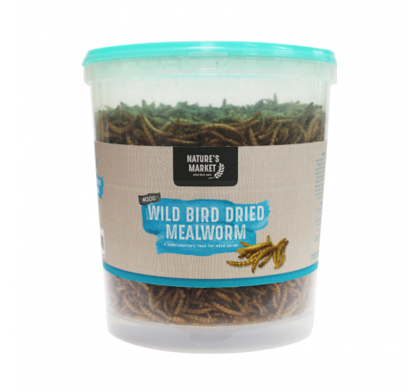 400G TUB DRIED MEALWORMS...